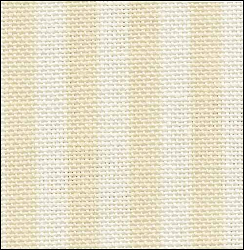 Parisian Neutral Stripe 32ct Linen  ~ Fabric Flair