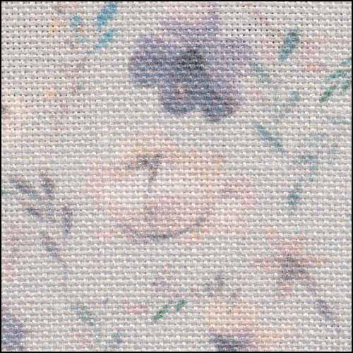 Blooms on Blue 32ct Linen ~ Fabric Flair
