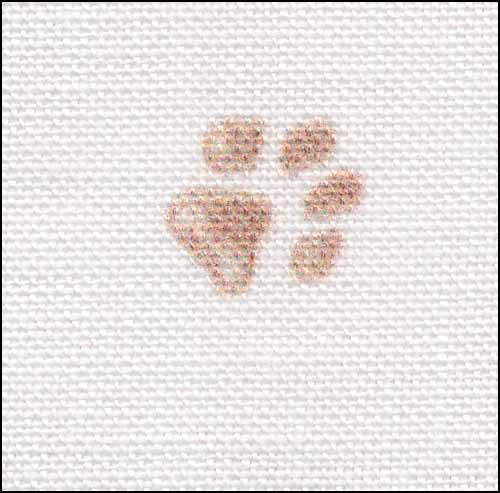 Pawprints 28ct Linen ~ Fabric Flair