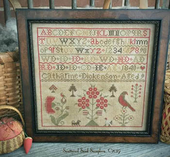 Catharine Dickenson 1840 ~ Scattered Seed Samplers
