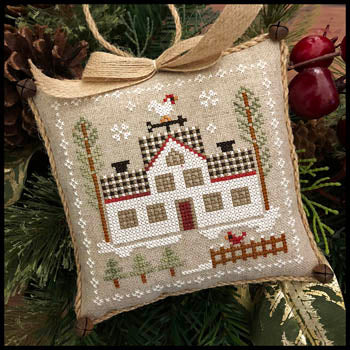 Farmhouse Christmas 7 - Cock-a-doodle-do ~ Little House Needleworks