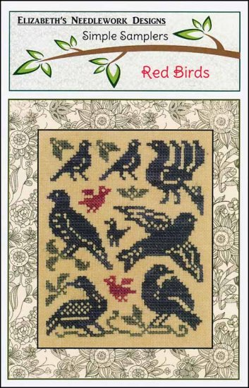 Red Birds ~ Elizabeth's Needlework Designs
