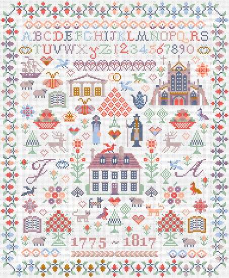 Jane Austen Sampler ~ Riverdrift House