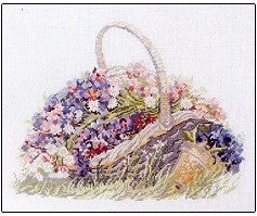 Basket With Flowers ~ Permin Graphs ~  157009