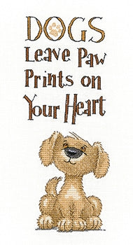 Paw Prints- Peter Underhill Collection ~ Cross stitch Pattern by Heritage Crafts