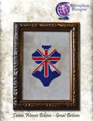 Teenie Weenie Bikinis - Great Britain (chart & charm) ~ Meridian Designs