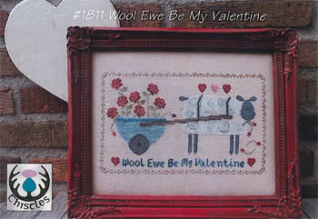 Wool Ewe Be My Valentine ~ Thistles