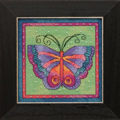 Butterfly Lime -  Flying Colors - Mill Hill Kit LB141912