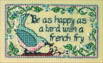 Be As Happy As A Bird With A French Fry ~ The Sweetheart Tree