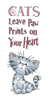 Cats Paw Prints - Peter Underhill Collection ~ Cross stitch Pattern by Heritage Crafts