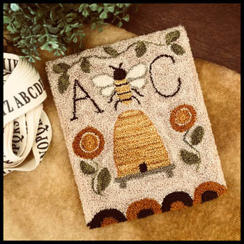 Bee Garden Punchneedle ~ Little House Needleworks