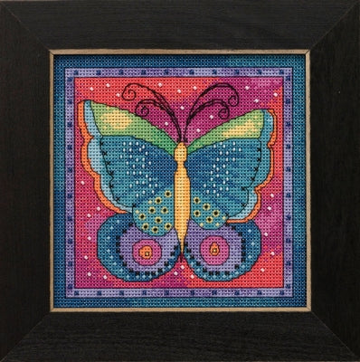 Butterfly Fushsia -  Flying Colors - Mill Hill Kit LB141916