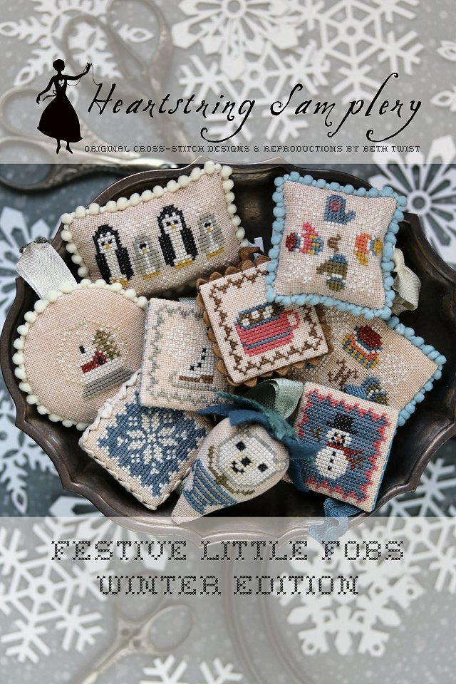 Festive Little Fobs 11 - Winter Edition ~ Heartstring Samplery