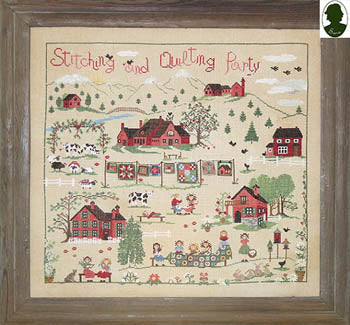 Stitching And Quilting Party (w/button) ~ Sara