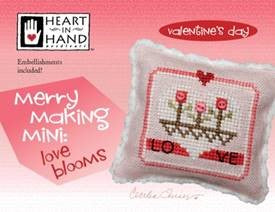 Merry Making Mini - Love Blooms (w/embellishments)  ~ Heart In Hand