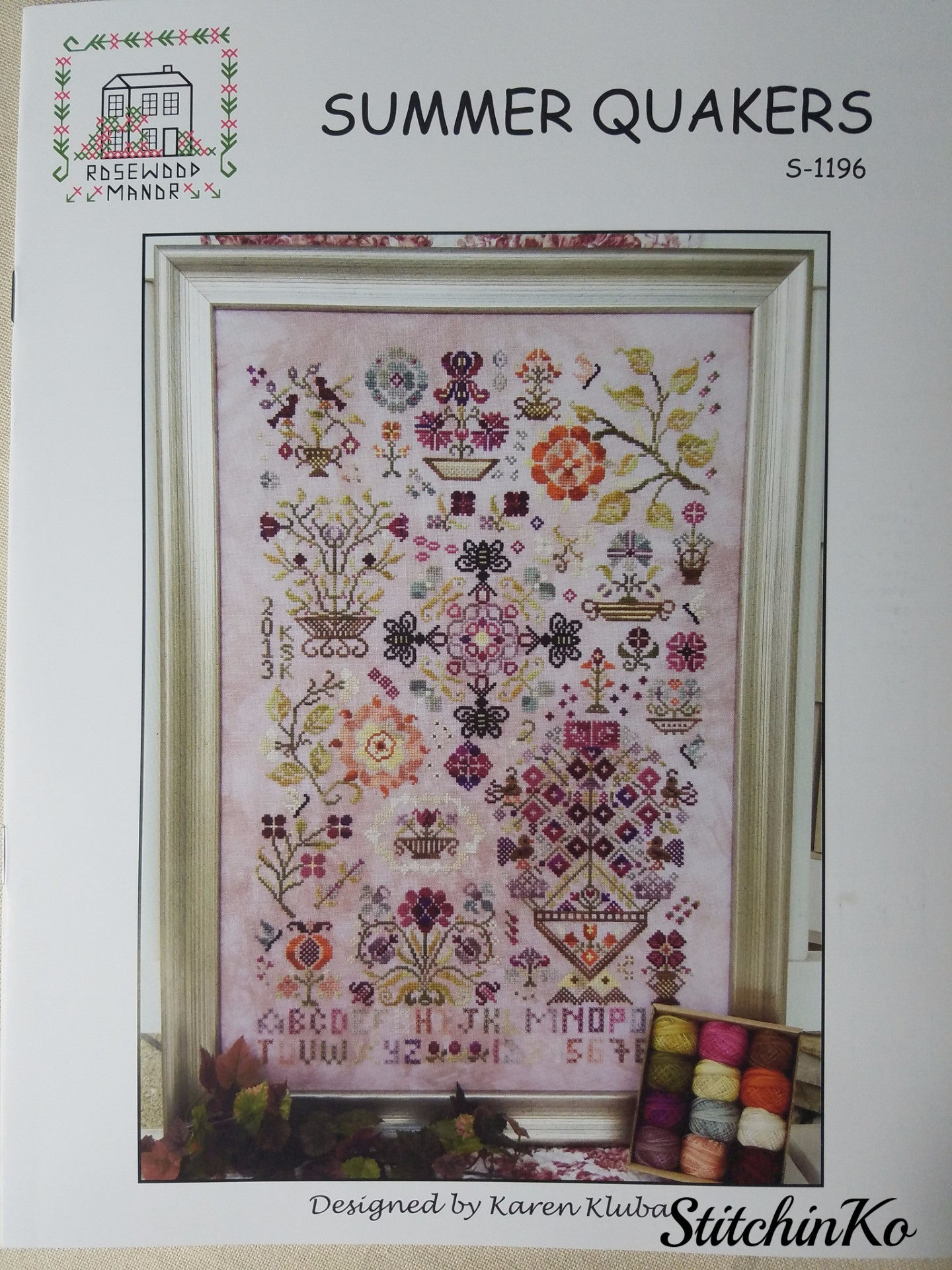 Summer Quakers Sampler Rosewood Manor Cross Stitch Pattern or Kit