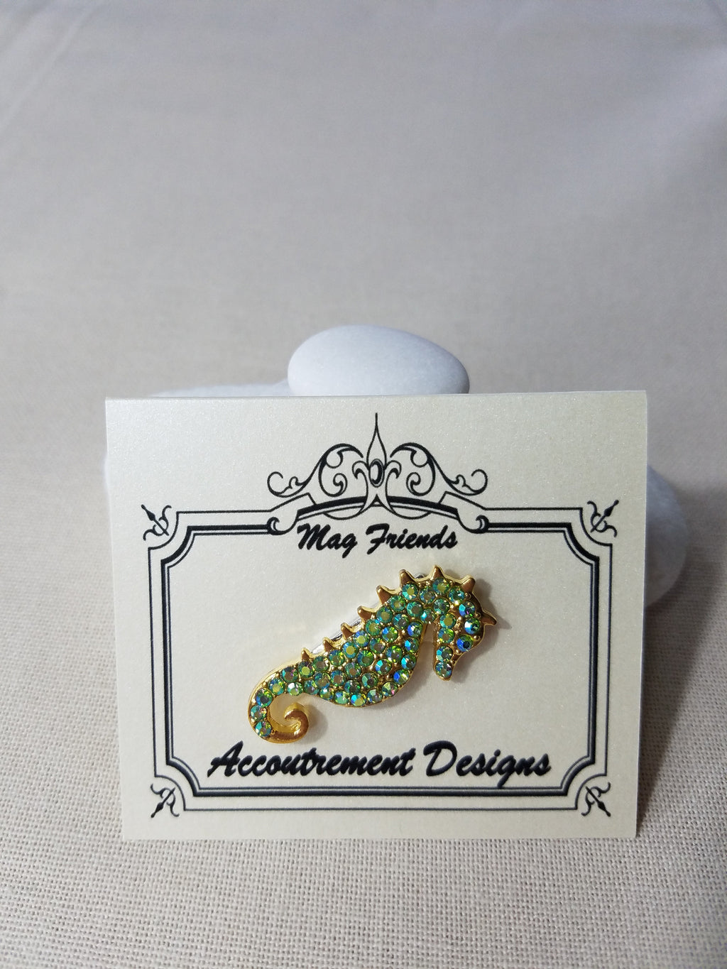Glamorous - PERIDOT SEAHORSE ~ Accoutrement Magnet