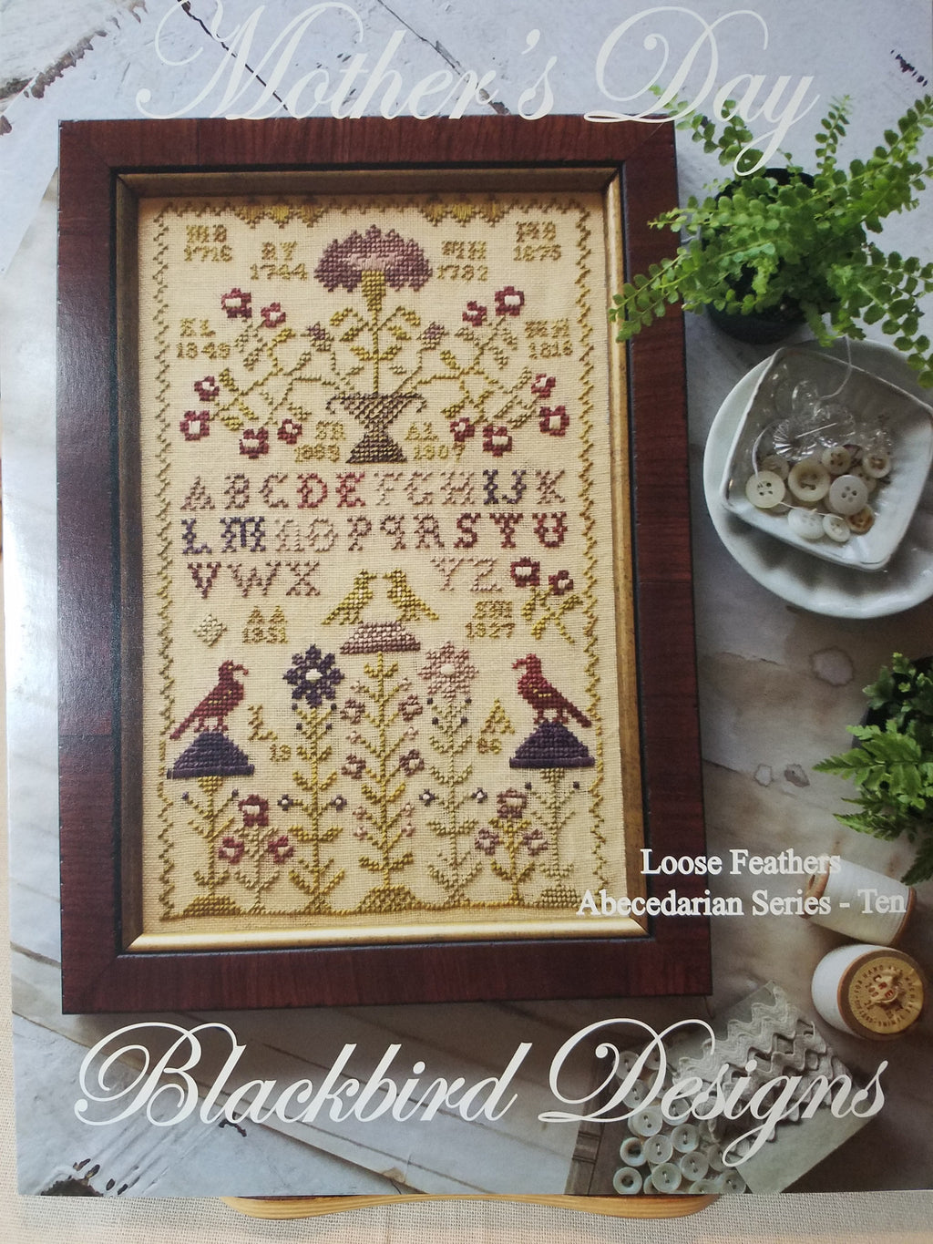 Loose Feathers - Mother's Day - Cross Stitch Pattern by Blackbird Designs
