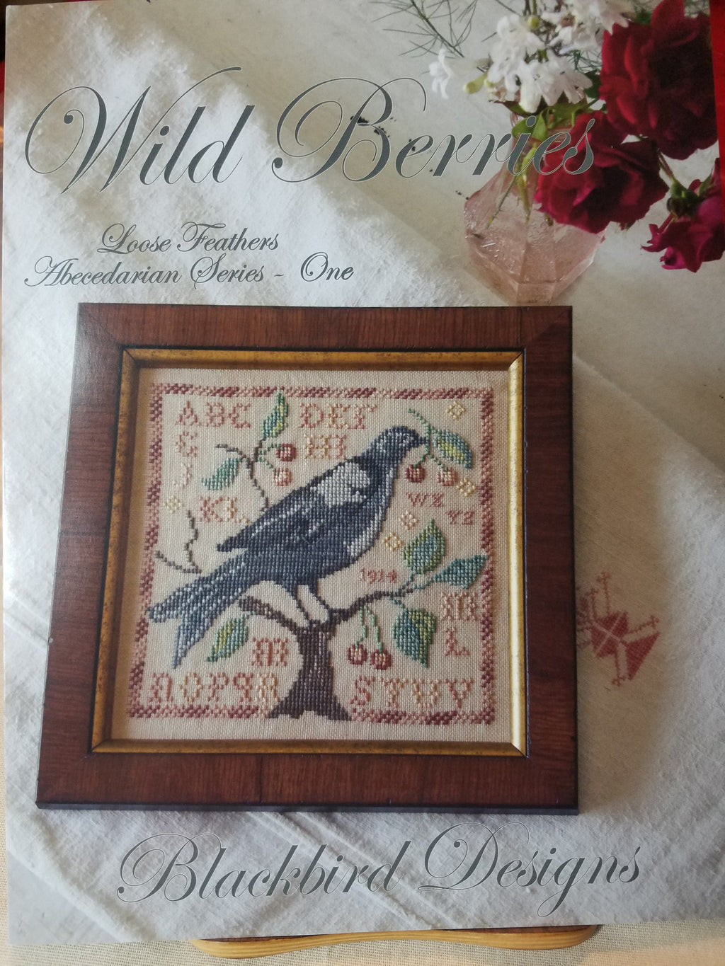 Loose Feathers - Wild Berries - Cross Stitch Pattern by Blackbird Designs