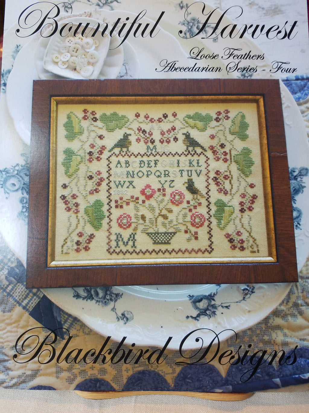 Loose Feathers - Bountiful Harvest - Cross Stitch Pattern Blackbird Designs