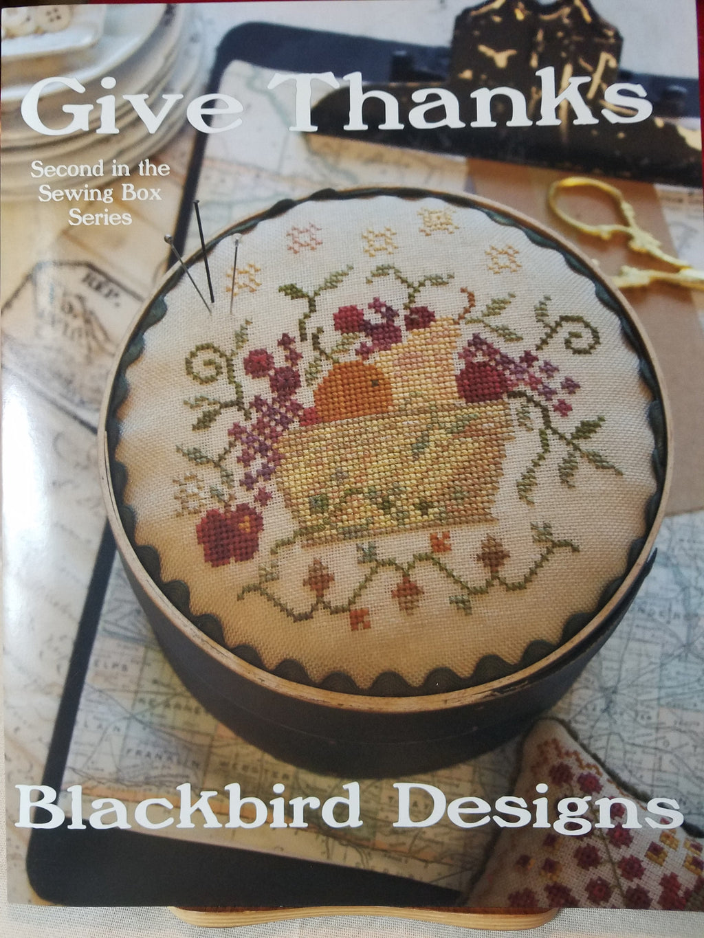 Give Thanks (Sewing Box Series) - Cross Stitch Pattern by Blackbird Designs
