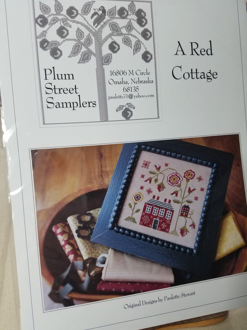 A Red Cottage ~ Plum Street Samplers
