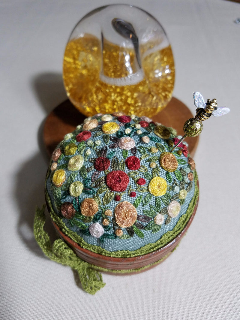 ~ Autumn in My Garden ~ Exclusive Handmade Pincushion