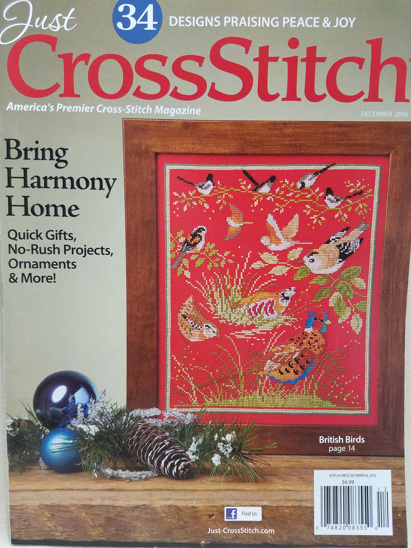 Just Cross Stitch Magazine ~ November/December Celebrate the Holidays