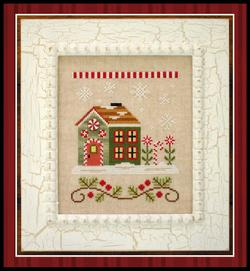 Santa's Village - 8 Candy Cane Cottage ~ Country Cottage Needleworks