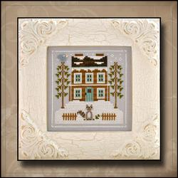 Frosty Forest - 1 Raccoon Cabin ~ Country Cottage Needleworks
