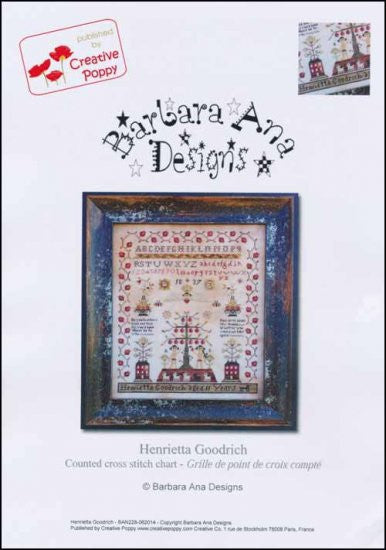 Henrietta Goodrich Sampler ~ Barbara Ana Designs