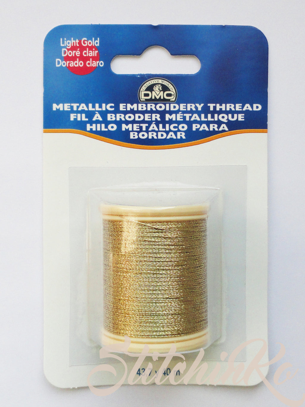 ~ DMC METALLIC FLOSS SPOOLS. LIGHT GOLD (282Z) ~