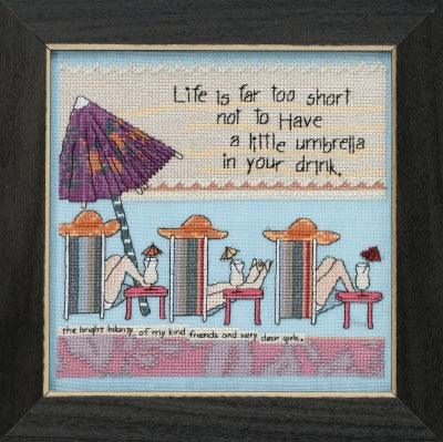 Life's too Short (Curly Girl Design) - Mill Hill Kit CG301813