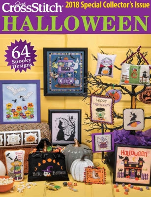 Just Cross Stitch Magazine ~ 2018 Halloween Special Collector's Issue