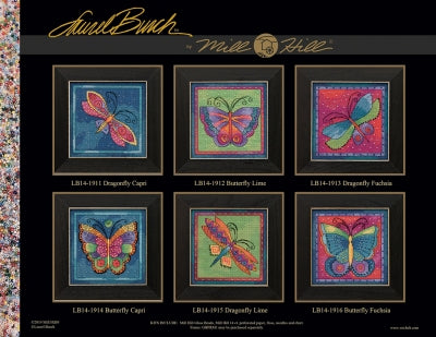 Dragonfly Fushia -  Flying Colors - Mill Hill Kit LB141913