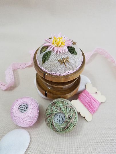 ~ Pond Lily ~ Exclusive Handmade Pincushion