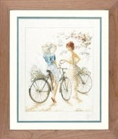 Girl on Bicycle ~ Lanarte