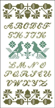 Alphabet Sampler Acorns ~ PinoyStitch