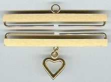 Bellpull ~ Satin Finish with Heart ~ Brass ~ Lene Boje
