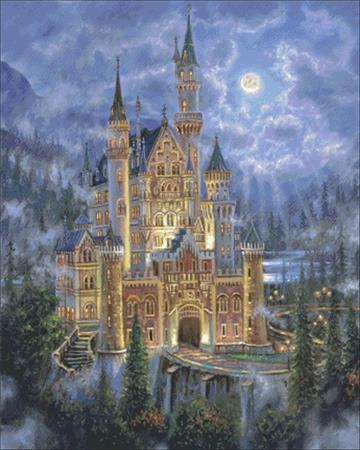 Moonlit Castle ~ Charting Creations