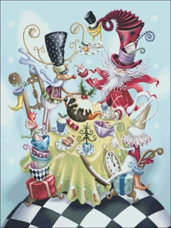 Festive Mad Hatter ~ Charting Creations