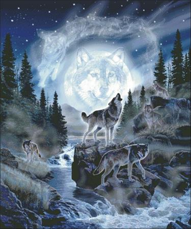 Moon Wolf ~ Charting Creations