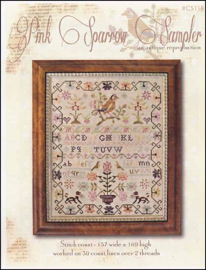 Pink Sparrow Sampler ~ With Thy Needle & Thread