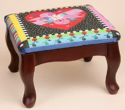 Sudberry House ~ Classic Queen Anne Footstool