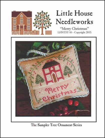 Sampler Tree Ornament: Merry Christmas
