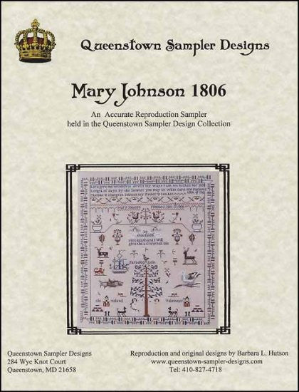 Mary Johnson 1806 ~ Queenstown Sampler Designs