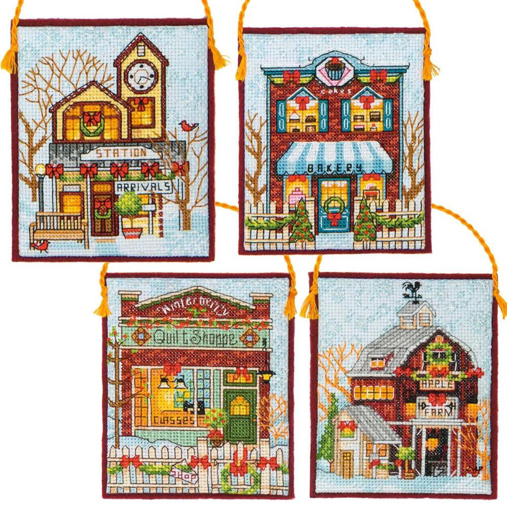 Winter Village Ornaments ~ Dimensions Counted Cross-Stitch Kit
