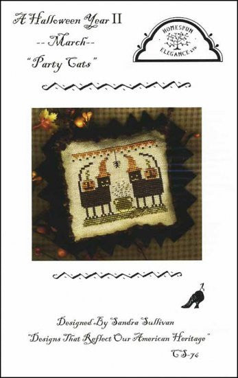 Halloween Year 2 March: Party Cats ~ Homespun Elegance Ltd