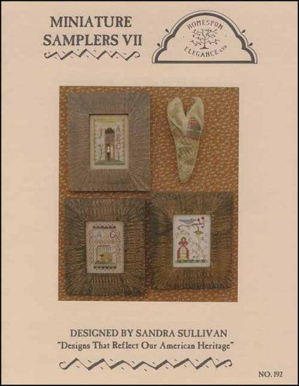 Miniature Samplers 7 ~ Homespun Elegance Ltd