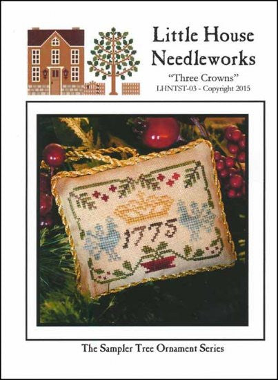 Sampler Tree Ornament: Three Crowns